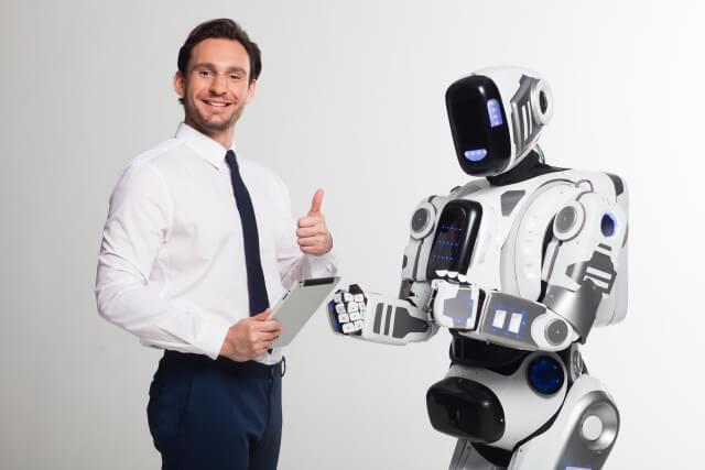 ロボットと男性⑥