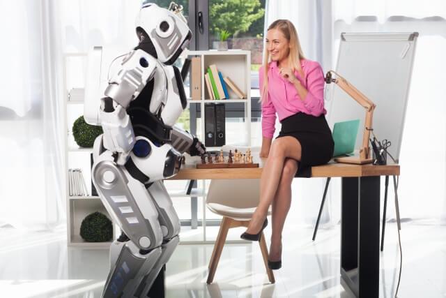 ロボットと女性④