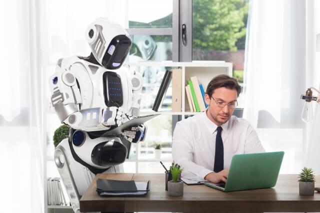 ロボットと男性②