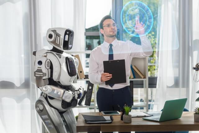 ロボットと男性④