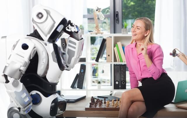 ロボットと女性⑧